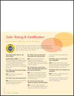 Solar Rating & Certification